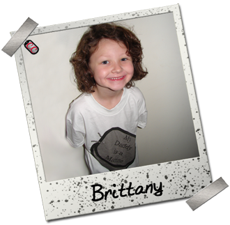 Brittany - Daddy is a Marine Dog Tag shirt