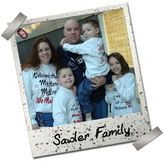 Sawler Family - Personalized Military Homecoming Shirts